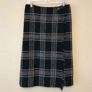 Talbots Wool-Blend Wrap Skirt